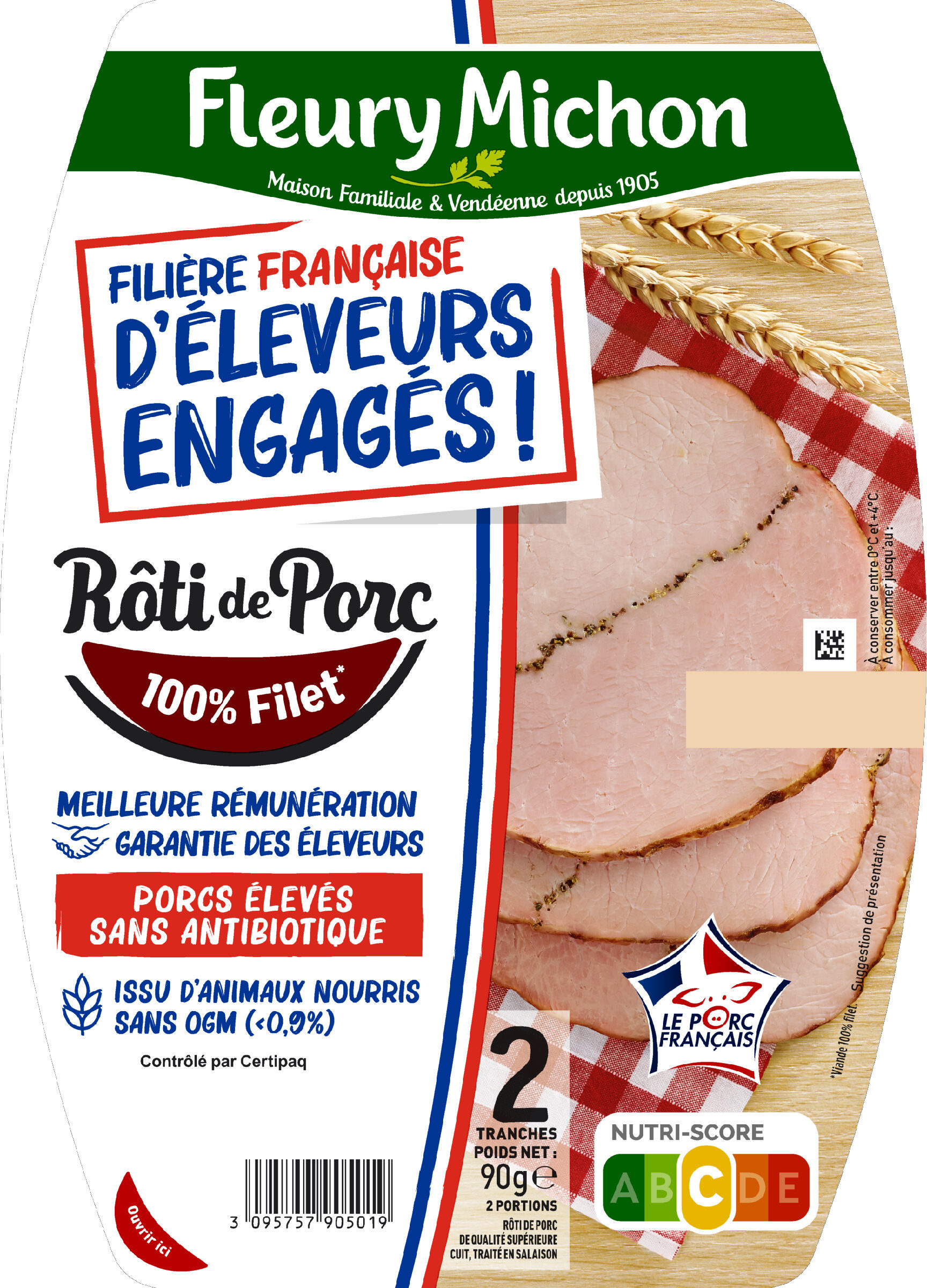 Le Rôti de Porc - 100% filet* - FILIERE FRANCAISE D'ELEVEURS ENGAGES - Product - fr