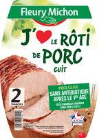 J'aime le rôti de porc cuit - 2 tranches - Product