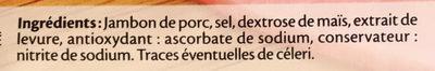 Le Paris fumé - 4 tr. - Ingredients