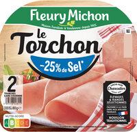 Le torchon  - 25% de sel*- 2 tranches - Prodotto - fr