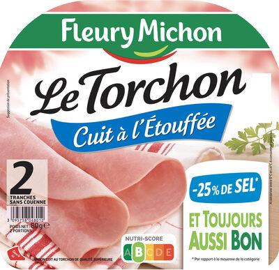 Le torchon cuit à l'étouffée - 25% de sel*- 2 tranches - Produit - fr