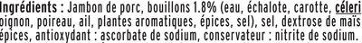 Le Torchon - Cuit à l'Etouffée  - 25% de sel* - Ingrédients - fr