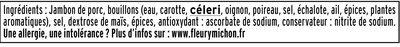 Le torchon  - 25% de sel*- 2 tranches - Ingredienti - fr