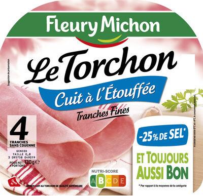 Le torchon cuit à l'étouffée - tranches fines - 25% de sel* - 4tr - Product - fr