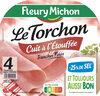 Le torchon cuit à l'étouffée - tranches fines - 25% de sel* - 4tr - Produit