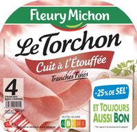 Le torchon cuit à l'étouffée - tranches fines - 25% de sel* - 4tr - Product