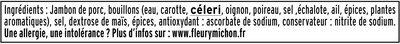 Le torchon cuit à l'étouffée - tranches fines - 25% de sel* - 4tr - Ingrediënten - fr