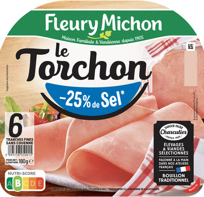 Le torchon - tranches fines - 25% de sel* - 6 tranches - Prodotto - fr
