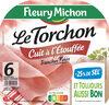 Le torchon cuit à l'étouffée - tranches fines - 25% de sel* - 6 tranches - Produit