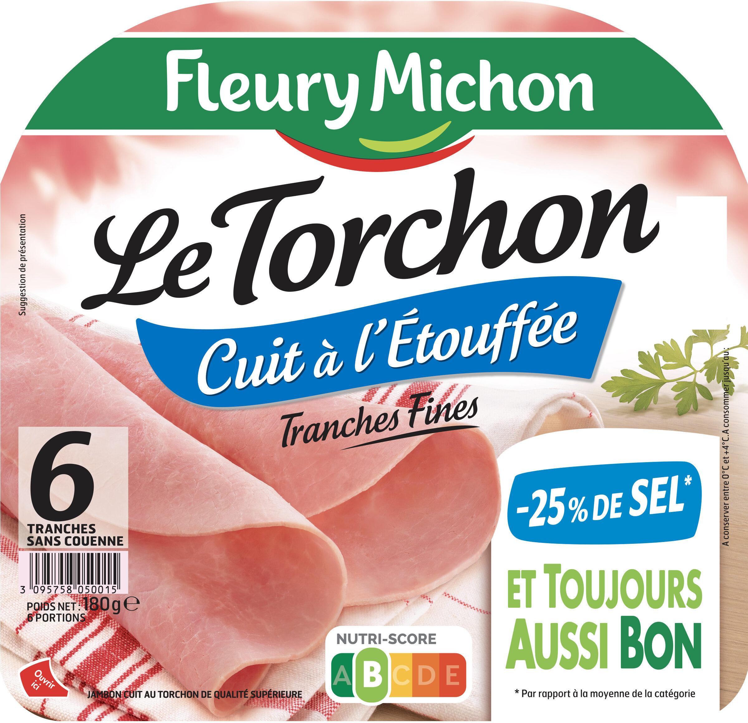 Le torchon cuit à l'étouffée - tranches fines - 25% de sel* - 6 tranches - Product - fr