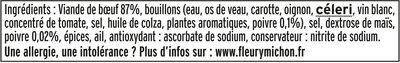 Pastrami de Boeuf au poivre - 6tr. - Ingredients - fr