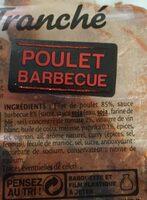 FILET TRANCHE DE POULET BARBECUE - 4tr. - Ingrediënten