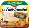 FILET TRANCHE DE POULET CURRY - 4 tr. - Produit