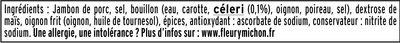 Le  Paris au torchon - 25% de Sel* -6 tr. - Ingredienti - fr