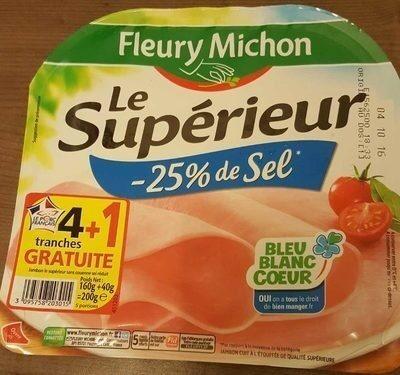Jambon sans couenne sel reduit - Product - fr