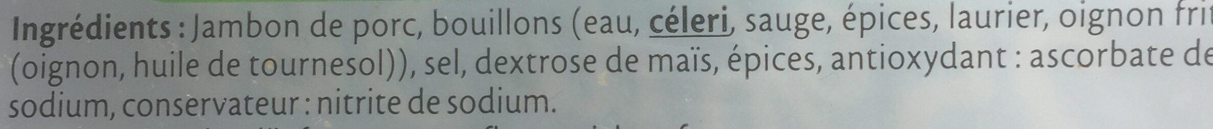 Le Supérieur -25% de Sel - Ingrediënten - fr