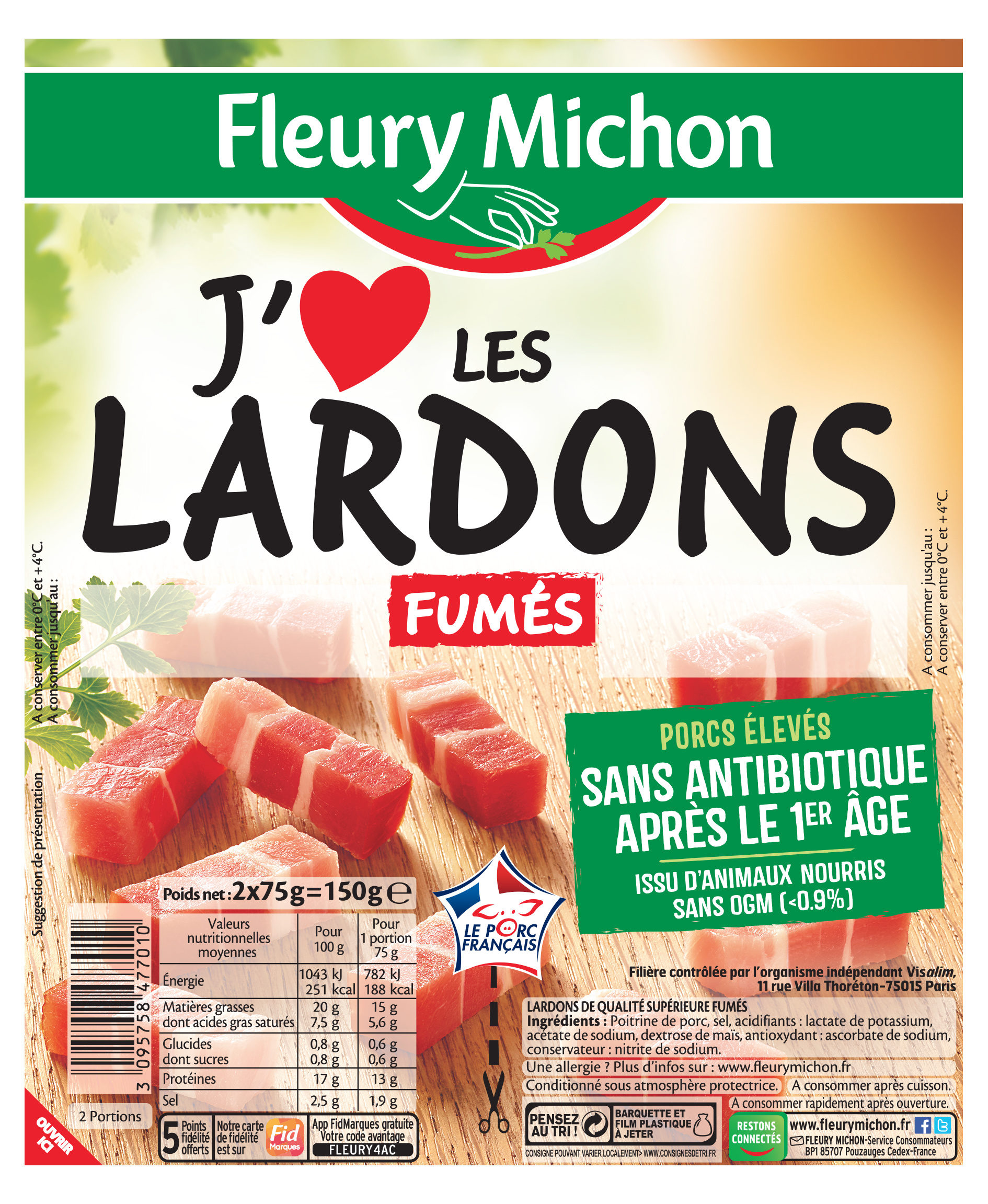 Lardons fumés - Product - fr