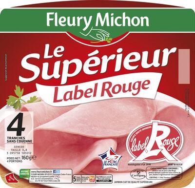 Le supérieur Label Rouge - 4 tranches sans couenne - Product