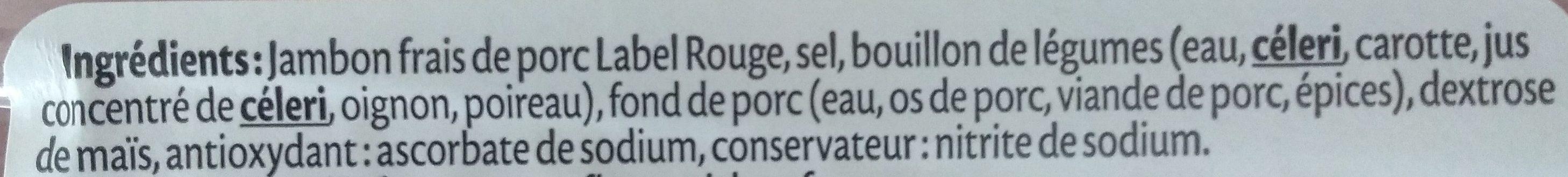 Le Supérieur Label Rouge - Ingredients