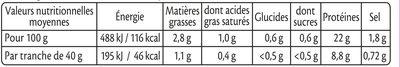 Le braisé doré au four - 4tr. - Informations nutritionnelles - fr