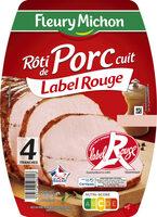 Rôti de porc cuit Label Rouge - 4 tranches - Produit - fr