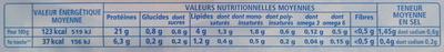 Le Tranché Fin Torchon (- 25 % de Sel) 4 Tranches Fines Sans couenne - Informations nutritionnelles
