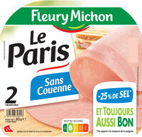 Le Paris sans couenne - 25% de Sel*- 2 tr - Product - fr