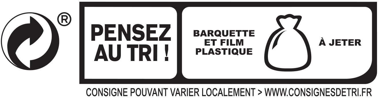 Le Paris sans couenne - 25% de Sel*- 2 tr - Recycling instructions and/or packaging information - fr