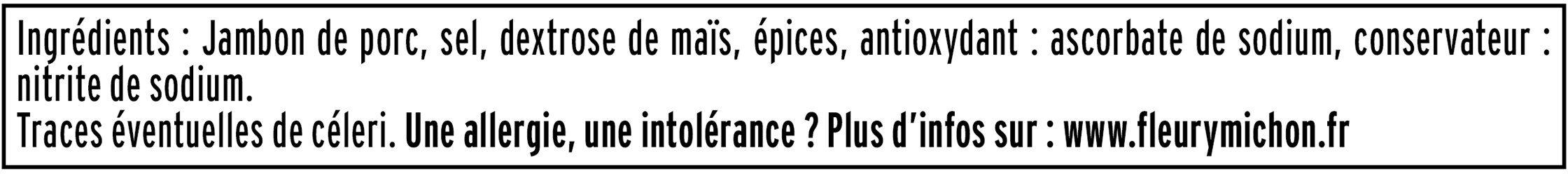 Le Paris sans couenne - 25% de Sel*- 4tr - Ingrediënten - fr