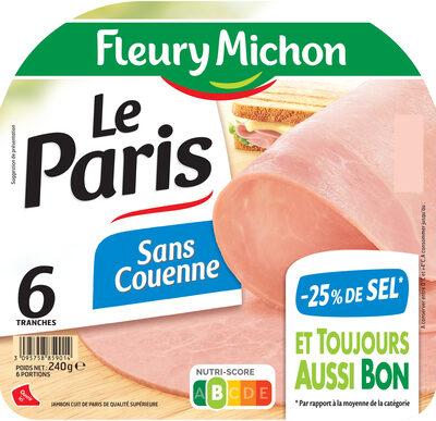 Le Paris  sans couenne - 25% de Sel*- 6 tr - Produit - fr