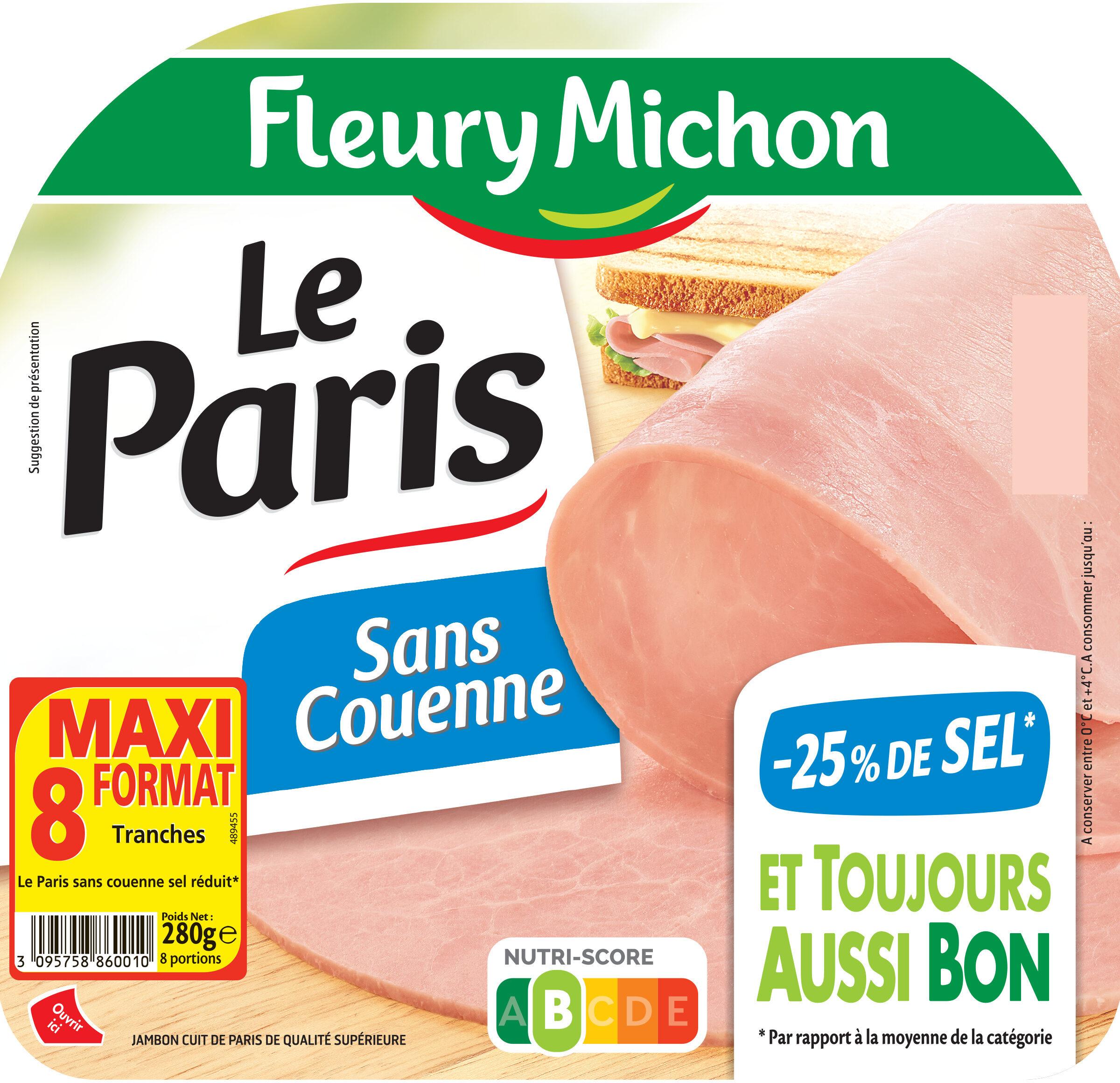 Le Paris sans couenne  - 25% de Sel* - 8 tr. - Product - fr