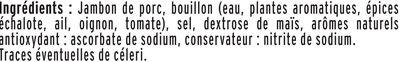 Le Paris sans couenne  - 25% de Sel* - 8 tr. - Ingrediënten - fr