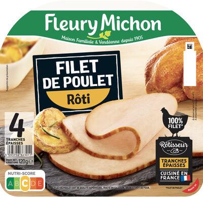 Filet de poulet rôti -100% filet*- 4 tranches épaisses - Produit - fr