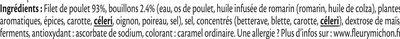 Filet de poulet rôti -100% filet*- 4 tranches épaisses - Ingrédients - fr