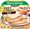 Filet de poulet rôti - 100% filet*-6 tranches épaisses - Produit
