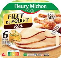 Filet de poulet rôti - 100% filet*-6 tranches épaisses - Produit - fr