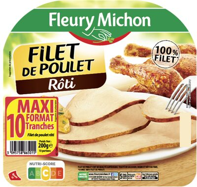 Filet de poulet rôti - 10 tr. - 8