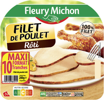 Filet de poulet rôti - 10 tr. - Product