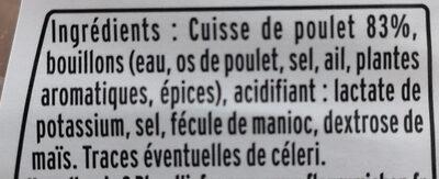 Emincés de poulet rôti 2 x 75 g - Ingredients - fr