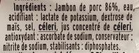 Allumettes de Jambon - Ingrédients - fr