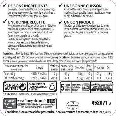 Rôti de Dinde - 100% filet* - 14