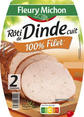 Rôti de dinde cuit 100% filet*  - 2 tranches - Produit