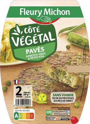 Pavé Végétal haricots et petits pois - Produit