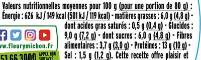 Pavés  Maïs et Poivrons - Informations nutritionnelles - fr