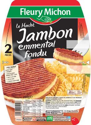 Le haché jambon emmental fondu - 2 pièces - Produit