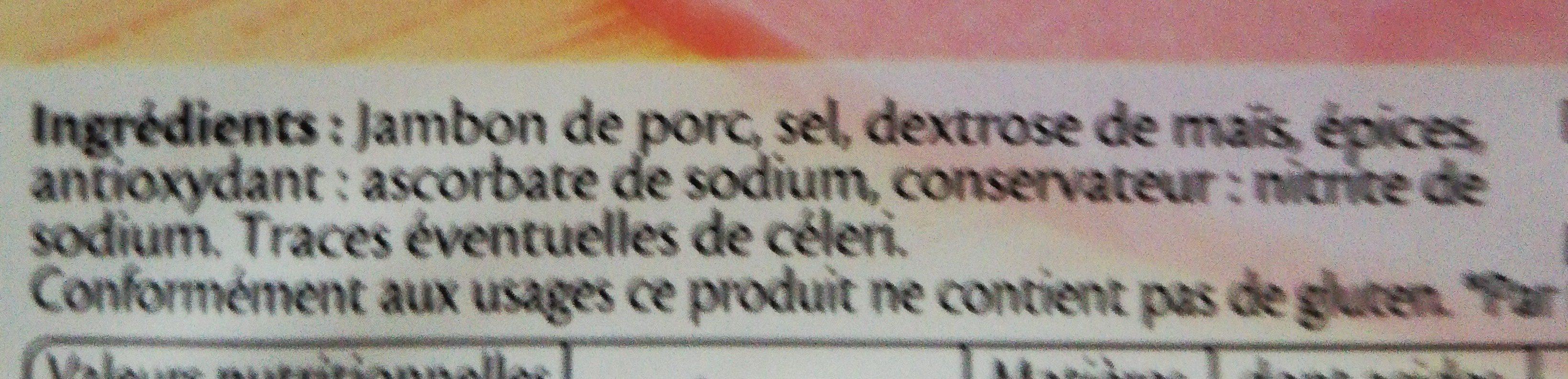 Jambon Cuit De Paris De Qualité Supérieure - Ingrediënten - fr