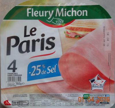 Jambon Le Paris -25% sel - Produit - fr