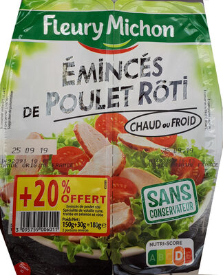 Émincé de poulet rôti - Product - fr
