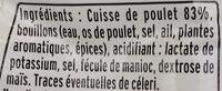 Émincés de poulet rôti - Ingrediënten