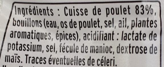 Émincé de poulet rôti - Ingrediënten - fr